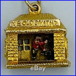 Rare Collectable Vintage 9ct Gold Ye Old Smithy Articulated Moving Charm #536