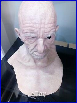 Realistic Spfx old man silicone mask, not cfx, realflesh or creafx siliconemask