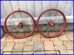 Red ACS Z Rims SR Shimano Old School BMX Wheels Not Araya