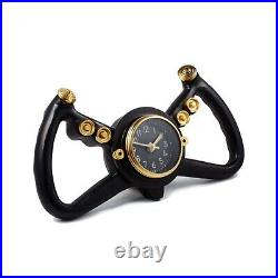 Retro Cockpit Steering Wheel Clock Old Airplane Pilot Collectible