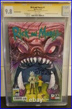 Rick And Morty Comic #1 CGC SS GRADED 9.8 Old Slab Variant Toxic Funko POP! Roy