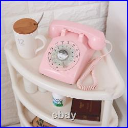 Rotary Dial Telephone 1960 Style Pink Retro Old Fashioned Vintage Phone Working