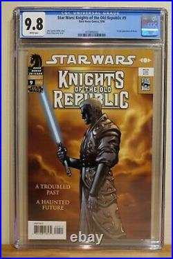 STAR WARS KNIGHTS OF THE OLD REPUBLIC #9 CGC 9.8 WHITE PAGES 1st Full REVAN