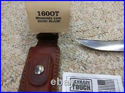 Schrade Old Timer Mountain Lion Knife 160ot USA Made Fixed Blade Not Used In Box