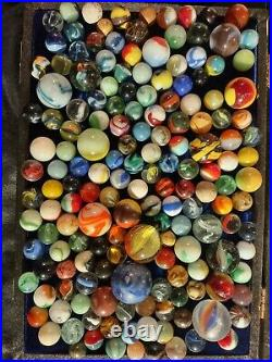 Selling Dad's old, vintage, antique, collectible marbles LARGE Lot #1