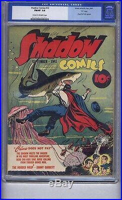 Shadow Comics 12 Cgc 7.0 Old Label D Copy