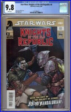 Star Wars Knights Of The Old Republic 8 Cgc 9.8 1st Carth Onasi Fett Mandalorian