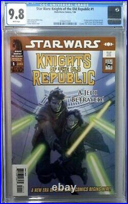 Star Wars Knights of the Old Republic #1 CGC 9.8 1st Zayne Carrick +7 More