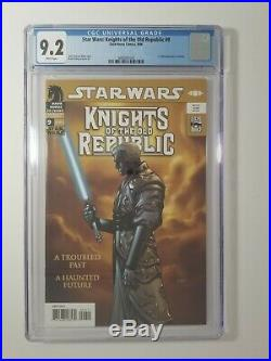 Star Wars Knights of the Old Republic #9 CGC 9.2 1st Full Appearance of Revan