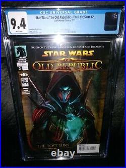 Star Wars The Old Republic #2 Revan Dark Horse Comics CGC 9.4 Gorgeous cover