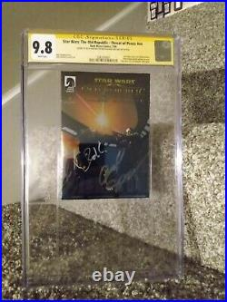 Star Wars The Old Republic SDCC #NN Ashcan CGC 9.8 Dual Signed Very Very Rare