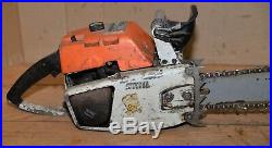 Stihl 041 Farm Boss collectible made in West Germany old badge chainsaw tool saw
