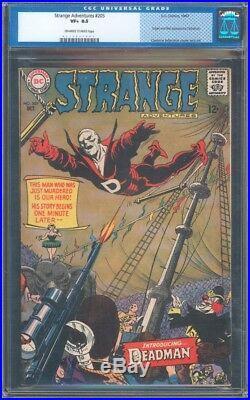 Strange Adventures #205 Cgc 8.5 Vf+ Oww Old Label 1st App Of Deadman