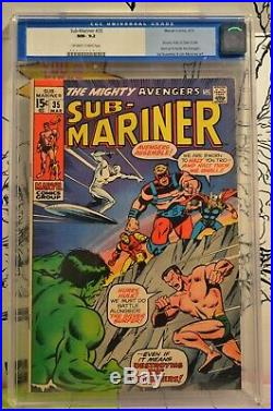 Sub-Mariner #35 CGC 9.2 Hulk Silver Surfer Defenders Prelude Old Label