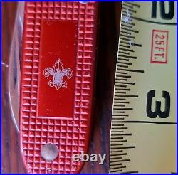 Swiss Army 4-Blade Knife 93 mm Victorinox Red Alox Old Cross BSA Boy Scout Mint
