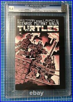 TMNT #1 3rd print CGC 9.4 First Teenage Mutant Ninja Turtles WHITE PGS OLD LABEL