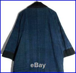 Taisho Era Noragi Boro Indigo Blue Rag Haori Vintage Old Clothes Sashiko Retro