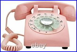 Telephone 1960 s Style Pink Retro Old Fashioned Rotary Dial