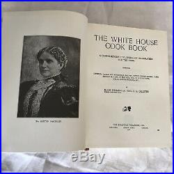 The White House Cook Book 1901 Antique Collectible Cookbook Almost 120 years old