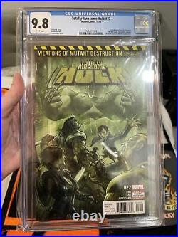 Totally Awesome Hulk #22 Cgc 9.8 Wh Pgs 1st Full Appearance Weapon H Old Logan