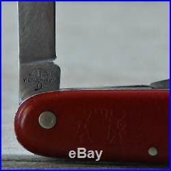 Ultra Rare! VTG 1950's Wenger 91mm WengerInox Officer Swiss Army Knife Old Cross