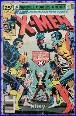 Uncanny X-Men 100 Old Team vs New Original and Complete VG-/VG 3.5/4.0