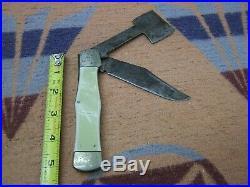 VINTAGE OLD POCKET KNIFE With HATCHET BLADE OLCUT UNION IMPERIAL