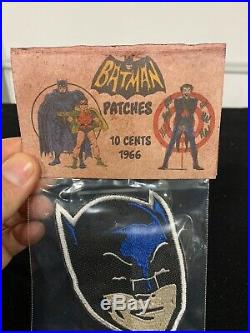Vintage 1966 Batman Patch MIB Unpunched Comic Superhero DC Toy NOS Old Store Sto