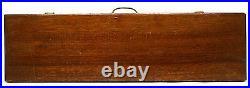 Vintage ARCHERY ARROW SET of 9 Metal Arrows in MAHOGANY WOOD BOX Old Custom Case