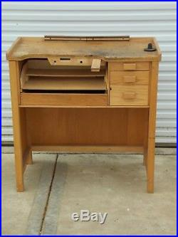 Vintage Antique 5 Drawer Jeweler's Work Bench From Old Jewelry Store