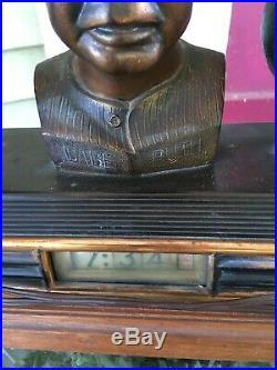 Vintage Art Deco Babe Ruth Yankees Baseball Antique Digital Old Clock Not Workin