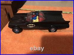 Vintage BATMAN Batmobile and Bat boat DUNCAN OLD + NICE 1960s