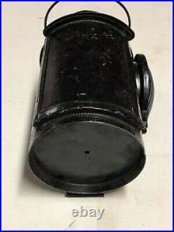Vintage BLUE Semaphore Lantern ADLAKE UP UNION PACIFIC Light OLD RR Railroad