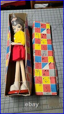 Vintage Big Eyed Doll Stockinette Dakin Dream Doll New-Old-Stock In Box NOS