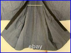 Vintage Japanese Old Hanten Happi Coat Kimono Jacket Uniform Indigo Blue