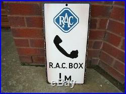 Vintage R. A. C. Enamel Sign Genuine Old Enamel Not Reproduction