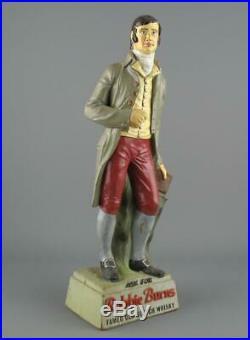 Vintage Rubberoid Robbie Burns Famed Old Scotch Whisky Advertising Bar Figure