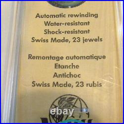 Vintage SWATCH Watch Time to Move SAK102 1992 AUTOMATIC NEON New Old Stock