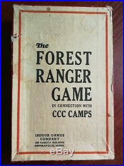 Vtg rare retro antique old collectable 1930s FOREST RANGER CCC Camps board game