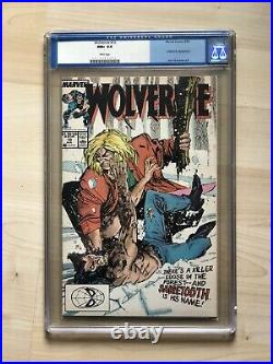WOLVERINE 10, CGC 9.6, White Pages, OLD LABEL! 1989, 1st Silver Fox Appearance