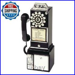 Wall-Mount Classic Rotary Pay Phone Old Fashioned Vintage-Design Telephone Home