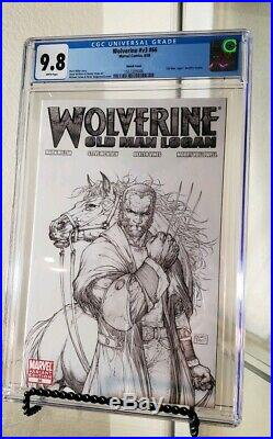 Wolverine 66 cgc 9.8 Michael Turner Sketch Variant Old Man Logan