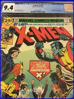 X-MEN 100 CGC 9.4 Old Vs New CLASSIC COVER KEY MARVEL COMIC BOOK CLAREMONT PROFX