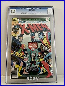 X-Men #100 CGC 8.0 VF (1976) Old X-Men vs. New X-Men Classic cover