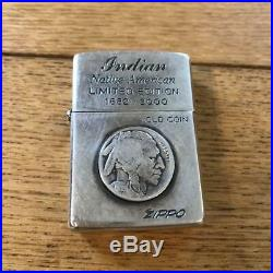 ZIPPO Limited Edition Indian Native American OLD COIN Oil lighter Rare